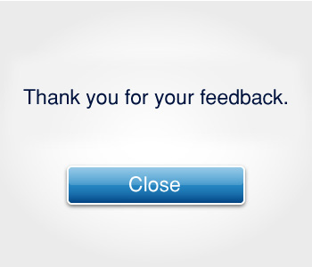 Thank you for your feedback.